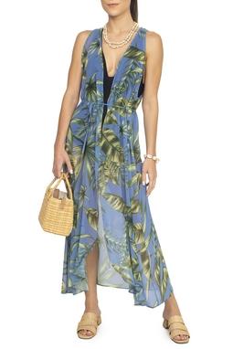 Kimono Saída de Praia Estampa Tropical - DG15262