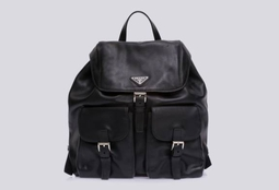 Mochila Black Leather Backpack IBG