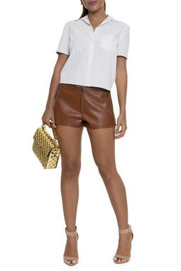 Shorts Couro Suede - DG16051