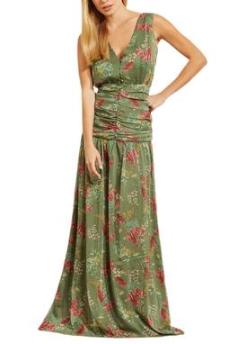 Vestido Longo Pala Drapeada - 130256