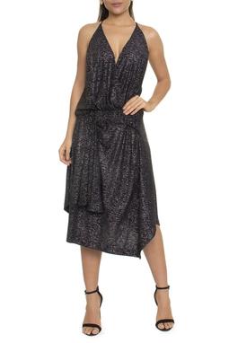Vestido Midi Glitter Preto - DG16391