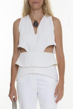 Blusa Branca Com Recortes - DG15200