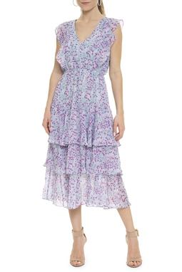 Vestido Midi Estampa Floral Babados - DG15872