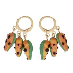 Mini Argola Tripla Tropical Papaia