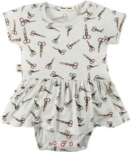 Body vestido bebê micromodal Tesoura