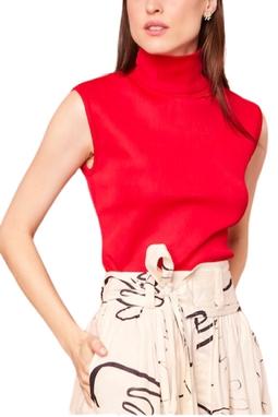 Blusa Gola Alta Tricot Vermelho USTL