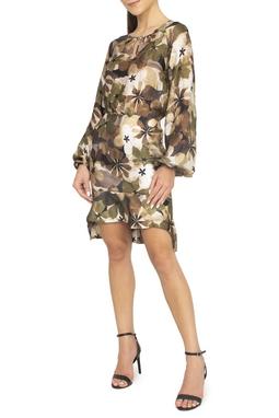 Vestido Seda Estampado ML - DG15078