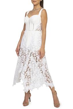 Vestido Branco Corselet Renda - DG15455