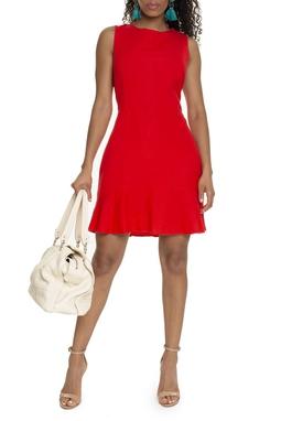 Vestido Curto Vermelho Regata - DG15731