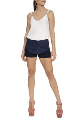 Shorts Com Pala Azul Marinho - DG15219