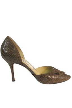 Sapato Com Detalhes Couro Cobra - DG15850