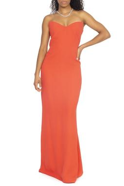 Vestido Coral Sem Alça - DG15442