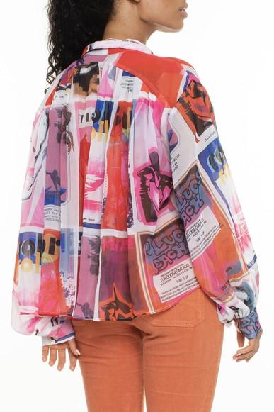 Camisa Botões Punho Estampada - DG16492 Curadoria Dress & Go
