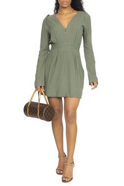 Vestido Curto ML Verde Militar - DG15232