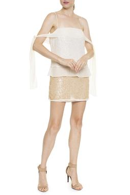 Vestido Paete Seta Bordado - DG16388