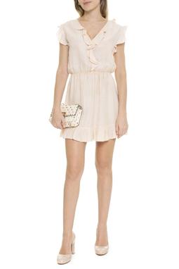 Vestido Mini Com Babados No Decote Saia - DG15811
