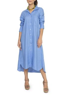 Vestido Chemise Linho Azul - DG15105