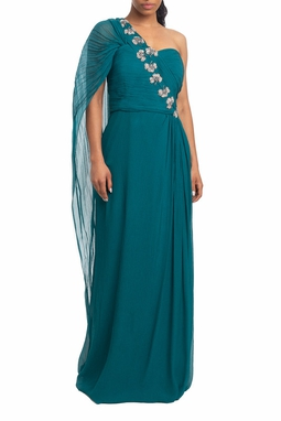 Vestido Longo Um Ombro Verde - DG19078