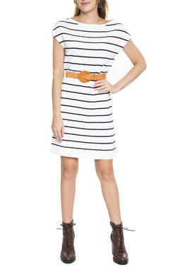 Vestido Listrado Reto - DG15493