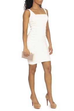 Vestido Curto Off White Drapeado - DG15169
