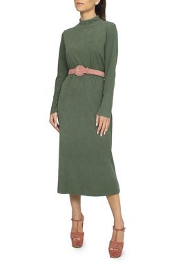 Vestido Malha Canelada Verde - DG15283