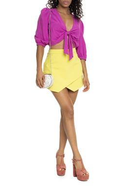 Saia Curta Amarelo Neon - DG15641