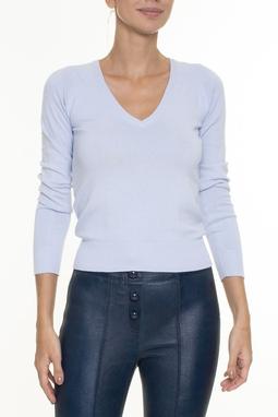 Suéter Azul Decote V - DG16761