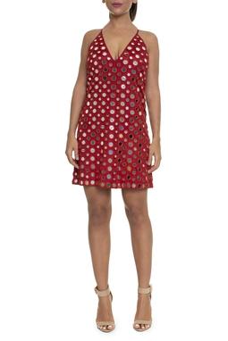 Vestido Regata Vermelho Espelhos - DG16225