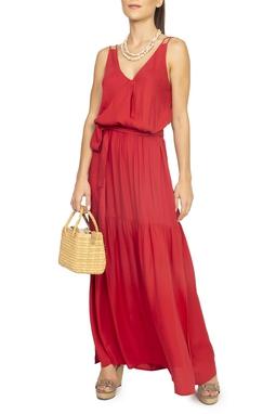 Vestido Vermelho Crepe - DG15288