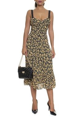 Vestido Ipanema Estampa Onça Regata - DG16245