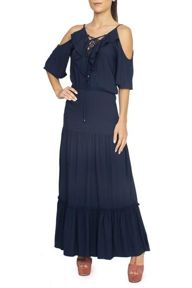Vestido Longo Azul - DG15021 Ateen