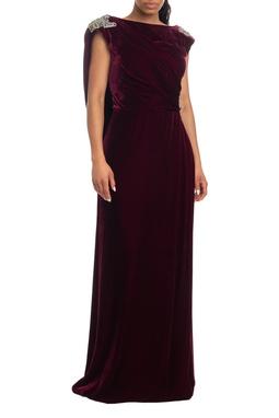 Vestido Longo Alça Grossa Marsala - DG19021