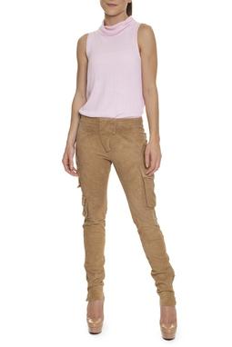 Calça Skinny Suede Sarja Caramelo - DG15626