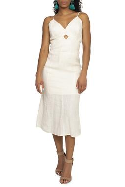 Vestido Midi Off White - DG15009