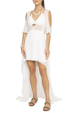 Vestido Branco Crepe De Seda - DG15064