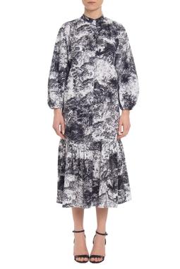 Vestido Midi Viscose Estampado - DG19569