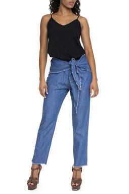 Calça Jeans Com Amarração - DG15602