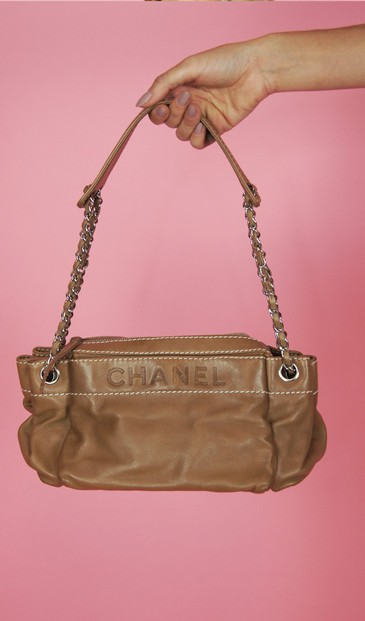 Chanel couro bege - BMD 9735 Chanel