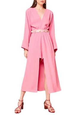 Vestido Midi Shorts Rosa Chiclete USTL