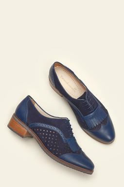 Oxford Fringe Azul Marinho