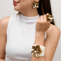 Bracelete Flor Ándria Dourado