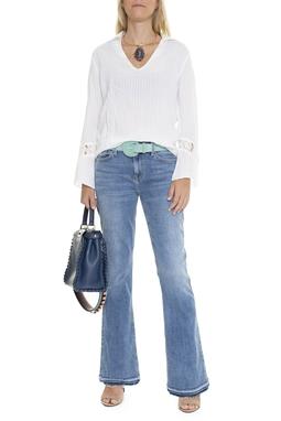 Calça Jeans Azul Barra Destroyed - DG15526