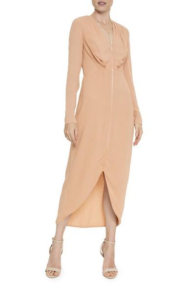 Vestido Midi Nude Zíper ML - DG16384 A. Brand
