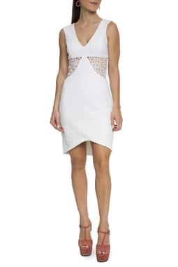 Vestido Curto Renda Guipir Branco - DG15556