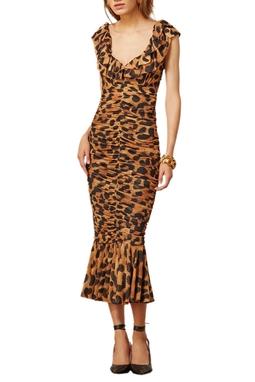 Vestido Midi Oncalça Drapeado - 120067