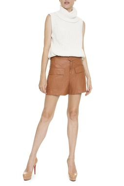 Shorts Couro Dobra Cintura - DG16350