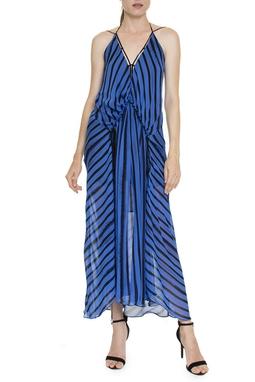 Vestido Decote Vies Listra Regata - DG16443