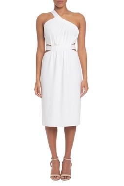 Vestido Curto Crepe Branco - DG19579