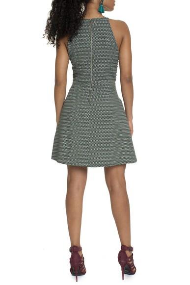 Vestido Verde Estampado - DG15755 Bo.Bô
