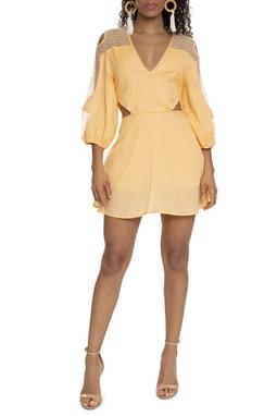 Conjunto De Bata Shorts Laranja Pastel - DG15215